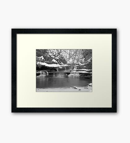 Frozen Nature Series - Bitter Falls Framed Print