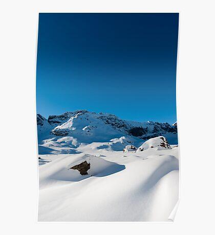 Mountain scenery at Melchseefrut Poster