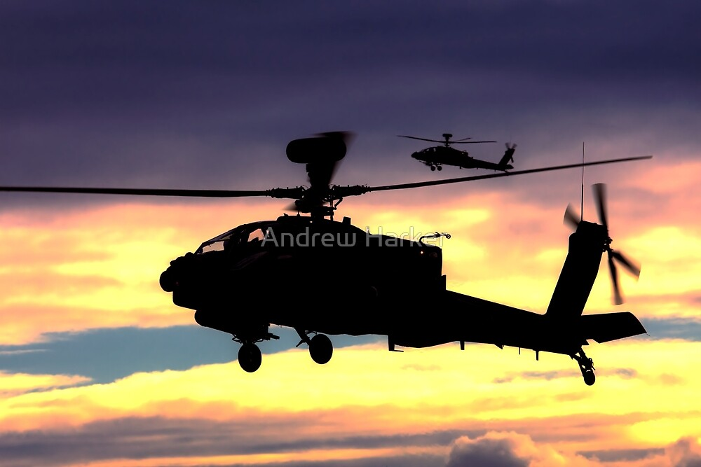 AugustaWestland Apache AH.1 Helicopters by Andrew Harker