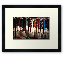 Hanging Brushes Framed Print