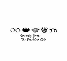 Sincerely Yours the Breakfast Club | Typography  by geektique
