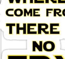 Where I come from there is no Try Sticker