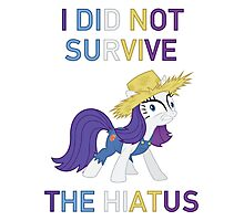 I Did Not Survive The Hiatus - MLP FiM - Brony Photographic Print