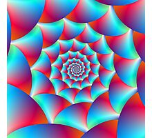 Spiral in Blue and Red Photographic Print