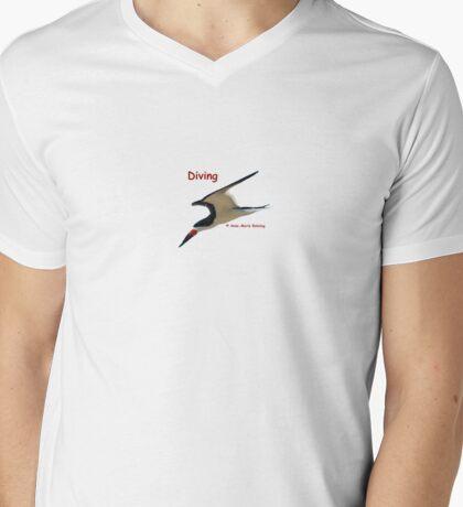 Diving Mens V-Neck T-Shirt