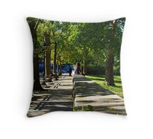 Saturday morning in Upper West Side, New York city Throw Pillow