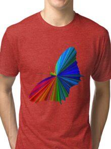 Rainbow Butterfly Tri-blend T-Shirt