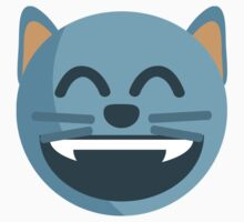 Grinning Cat Face With Smiling Eyes EmojiOne Emoji Kids Clothes