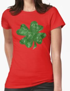 Watercolor Shamrock Womens Fitted T-Shirt