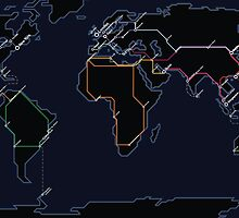 Rail Map of the World (Night) by allenamin