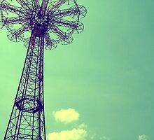 Coney Island Parachute Jump by Marina Alexis Parker
