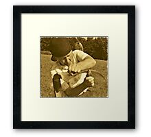 At  Work Framed Print