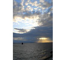 English Channel Ferry Ride Photographic Print