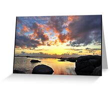 Cape Town Sunset Greeting Card