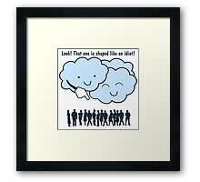 Cloud Mocks Human Shapes Funny Cartoon Framed Print