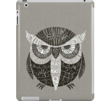 Wise Old Owl Says iPad Case/Skin