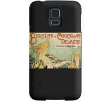 'Biscuits and Chocolat Delacre' by Privat Livemont (Reproduction) Samsung Galaxy Case/Skin