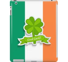 Clover on Irish flag for Patrick day iPad Case/Skin