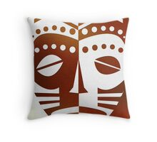 Mask Print Throw Pillow