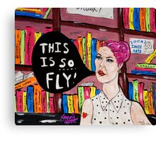 This is SO Fly! Lady at the Library Canvas Print