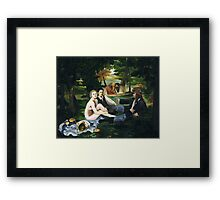 Pirate Luncheon in the Grass Framed Print