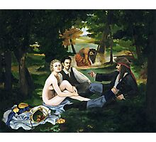 Pirate Luncheon in the Grass Photographic Print