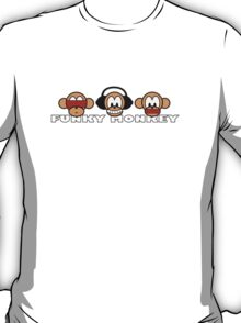 cartoon style three funky monkey T-Shirt