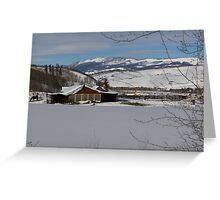 Snowy farm in Summit County Greeting Card