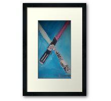light sabers Framed Print