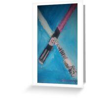light sabers Greeting Card