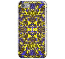 """Blue & Gold Abstract 2015"" iPhone Case/Skin"