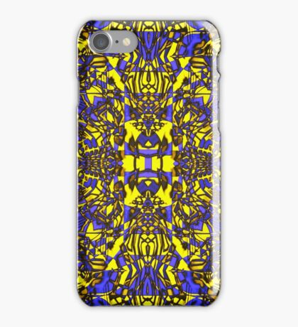 """""""Blue & Gold Abstract 2015"""" iPhone Case/Skin"""