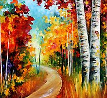 White Birches — Buy Now Link - www.etsy.com/listing/224372626 by Leonid  Afremov