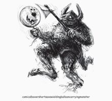 the boxer shorts t shirt monster by Tom Godfrey