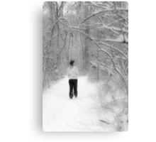 Snowy Walk in the Snowy Woods Canvas Print