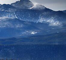 Longs Peak wind storm by Paul Crossland