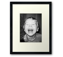 Max lets it all out Framed Print