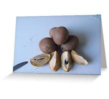 Sapodilla Fruit Greeting Card