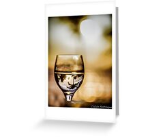Wine & Sunset Greeting Card