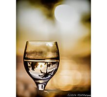 Wine & Sunset Photographic Print