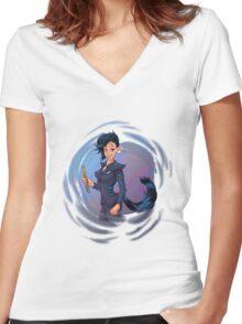 Chessher Women's Fitted V-Neck T-Shirt