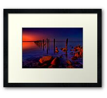 """Nightfall At The Dell"" Framed Print"