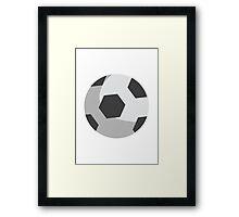 Soccer Ball EmojiOne Emoji Framed Print