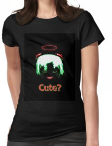 Devil - cute? Womens Fitted T-Shirt