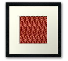 Harry Pattern - Gryffindor Framed Print