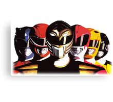 Mighty Morphin Power Rangers Canvas Print