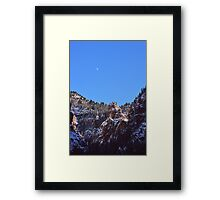 Moon Over Colorado Peaks Framed Print