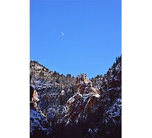 Moon Over Colorado Peaks Photographic Print