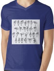 sign language Mens V-Neck T-Shirt