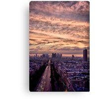 Red Sky Over Paris Canvas Print